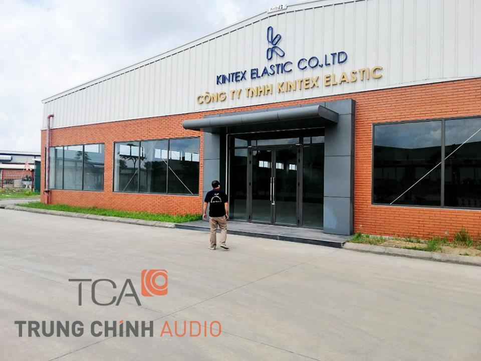 TCA thiết kế hệ thống thông báo cho nhà xưởng công ty Kintex Elastic