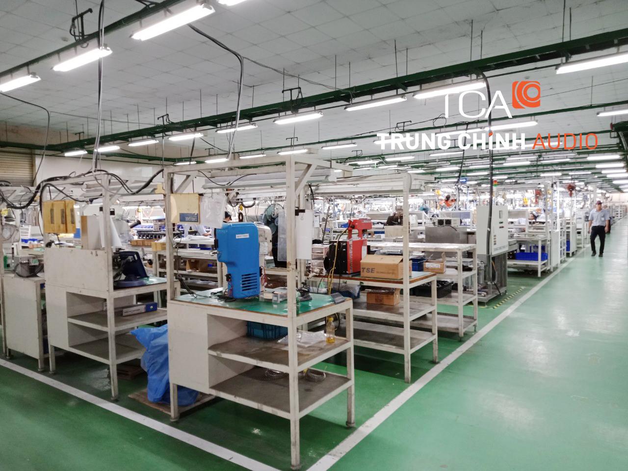Khảo sát hệ thống âm thanh cho nhà xưởng công ty JUKI