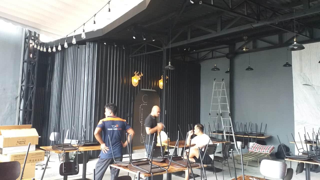Hệ thống âm thanh sân khấu quán Cafe The Hood quận Tân Bình